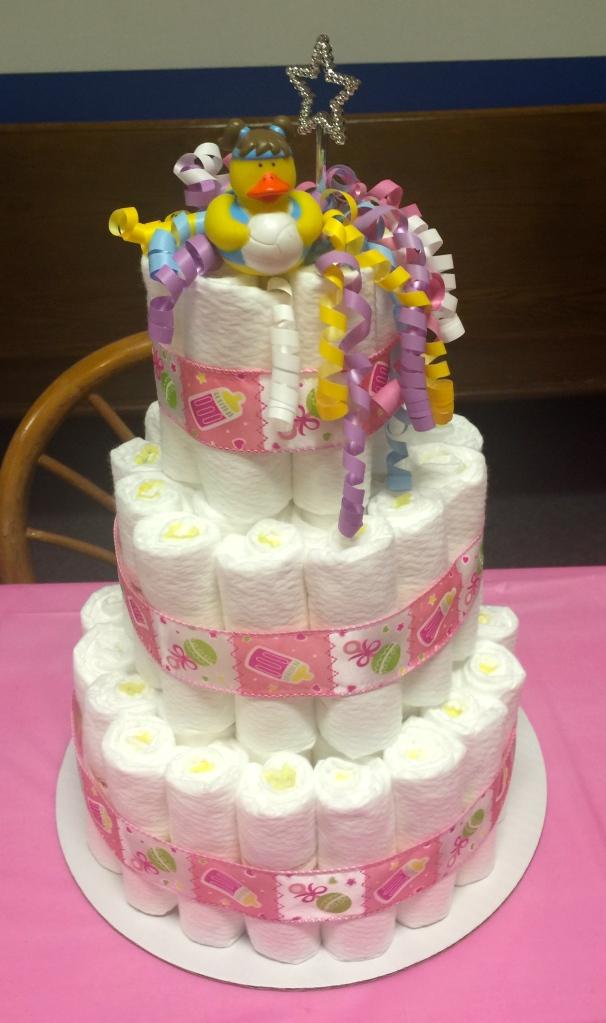 A diaper cake.